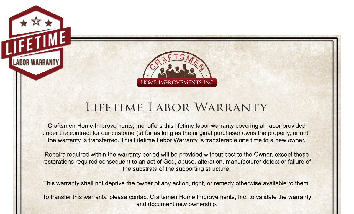 CHI-Labor Warranty Graphic
